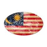 Malaysia Flag 38.5 x 24.5 Oval Wall Peel