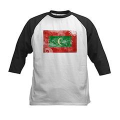 Maldives Flag Kids Baseball Jersey