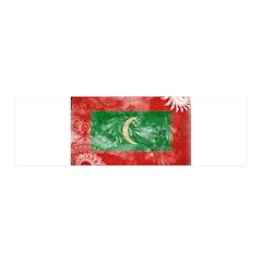 Maldives Flag 21x7 Wall Peel
