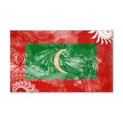 Maldives Flag 22x14 Wall Peel