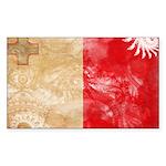 Malta Flag Sticker (Rectangle 50 pk)