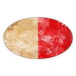 Malta Flag Sticker (Oval 50 pk)