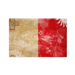 Malta Flag Rectangle Magnet