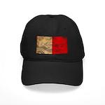 Malta Flag Black Cap