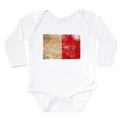 Malta Flag Long Sleeve Infant Bodysuit