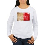 Malta Flag Women's Long Sleeve T-Shirt