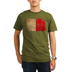 Malta Flag Organic Men's T-Shirt (dark)