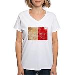 Malta Flag Women's V-Neck T-Shirt