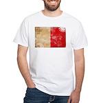 Malta Flag White T-Shirt