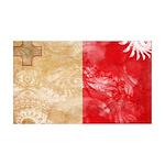 Malta Flag 38.5 x 24.5 Wall Peel