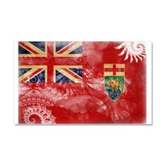 Manitoba Flag Car Magnet 20 x 12