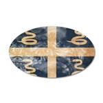 Martinique Flag 38.5 x 24.5 Oval Wall Peel