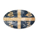 Martinique Flag 22x14 Oval Wall Peel