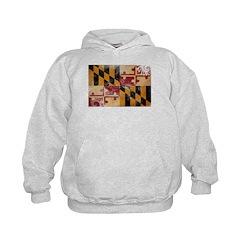 Maryland Flag Kids Hoodie