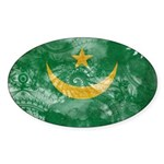 Mauritania Flag Sticker (Oval 50 pk)
