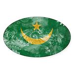 Mauritania Flag Sticker (Oval)