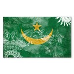 Mauritania Flag Sticker (Rectangle)
