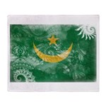 Mauritania Flag Throw Blanket