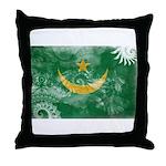 Mauritania Flag Throw Pillow