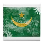 Mauritania Flag Tile Coaster