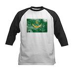 Mauritania Flag Kids Baseball Jersey