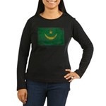 Mauritania Flag Women's Long Sleeve Dark T-Shirt