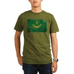 Mauritania Flag Organic Men's T-Shirt (dark)