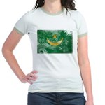 Mauritania Flag Jr. Ringer T-Shirt