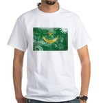 Mauritania Flag White T-Shirt