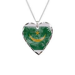 Mauritania Flag Necklace