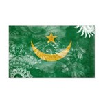 Mauritania Flag 22x14 Wall Peel