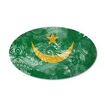 Mauritania Flag 38.5 x 24.5 Oval Wall Peel