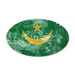 Mauritania Flag 22x14 Oval Wall Peel