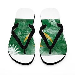 Mauritania Flag Flip Flops