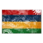 Mauritius Flag Sticker (Rectangle 50 pk)