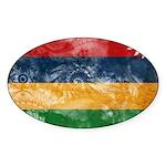 Mauritius Flag Sticker (Oval 50 pk)