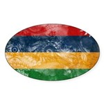 Mauritius Flag Sticker (Oval)