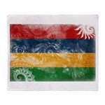 Mauritius Flag Throw Blanket