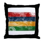 Mauritius Flag Throw Pillow