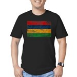 Mauritius Flag Men's Fitted T-Shirt (dark)