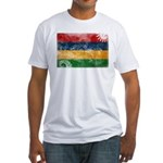 Mauritius Flag Fitted T-Shirt