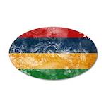 Mauritius Flag 38.5 x 24.5 Oval Wall Peel