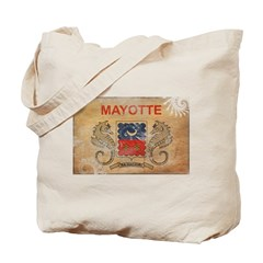 Mayotte Flag Tote Bag