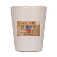 Mayotte Flag Shot Glass