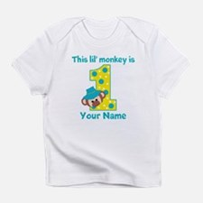 1st Birthday Monkey Boy Infant T-Shirt