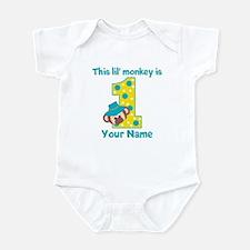 1st Birthday Monkey Boy Infant Bodysuit