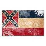 Mississippi Flag Sticker (Rectangle 50 pk)
