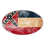 Mississippi Flag Sticker (Oval 50 pk)