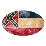 Mississippi Flag Sticker (Oval)