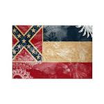 Mississippi Flag Rectangle Magnet (100 pack)